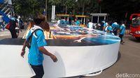 Tak Mampu Tahan Beban Penonton, Backdrop Gerbang Utama Indonesia Open Roboh