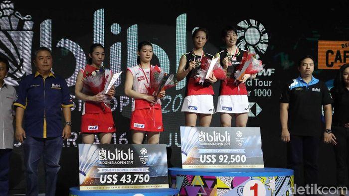 Yuki Fukushima/Sayaka Hirota juara Indonesia Open 2019. (Pradita Utama/detikSport)