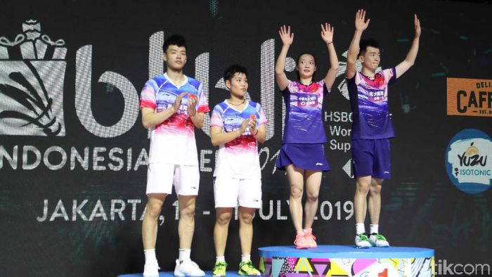 China menguasai final Indonesia Open tanpa adanya Tontowi Ahmad/Liliyana Natsir. (Pradita Utama/detikSport)