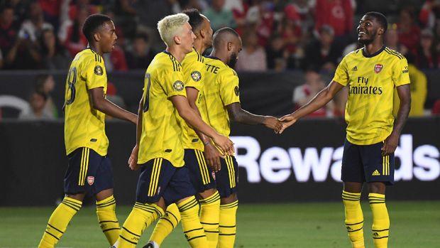 Arsenal saat mengalahkan Bayern Munchen 2-1. (
