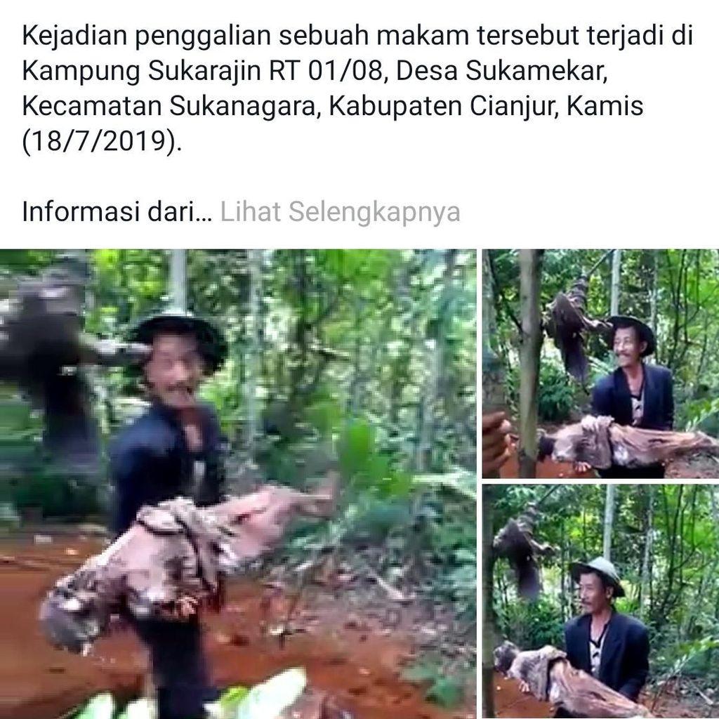 Ulah Wiharna Bongkar Makam-Bopong Jasad Ayah Gegerkan Cianjur