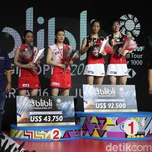 Yuki/Sayaka Sukses Pertahankan Gelar Indonesia Open
