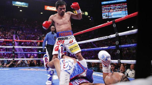 Manny Pacquiao dan Jack Ma menantang Floyd Mayweather.