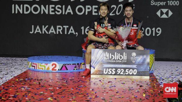 Kevin/Marcus juara Indonesia Open 2019. (