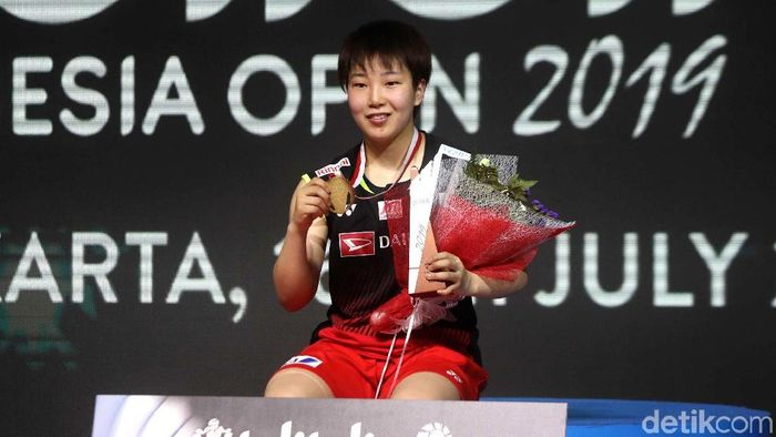 Akane Yamaguchi juara Indonesia Open 2019. (Pradita Utama/detikSport)