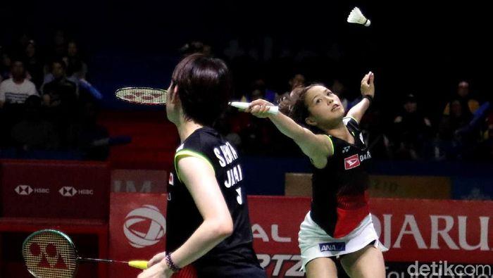 Ganda putri Jepang Yuki Fukushima/Sayaka Hirota mempertahankan gelar Indonesia Open 2019.  (Pradita Utama/detikSport)