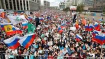Ribuan Warga Moskow Kumpul di Alun-alun, Protes Oposisi Tak Bisa Ikut Pemilu