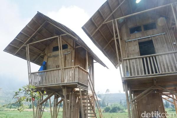 Bentuknya dibangun ala rumah panggung dengan kamar mandi berada di bawah kamar. Homestay ini sudah dipesan saat gelaran Dieng Culture Festival (DCF) di Agustus mendatang hingga tahun 2020 (Uje Hartono/detikcom)