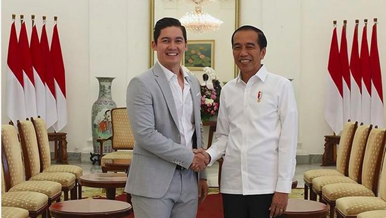 Foto: Samuel Zylgwyn bertemu Jokowi (IG/Samuel Zylgwyn)