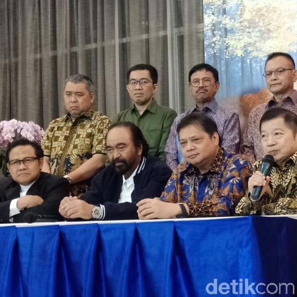 Kumpul Bareng, Golkar-PKB-PPP-NasDem Sepaket Pimpinan MPR?