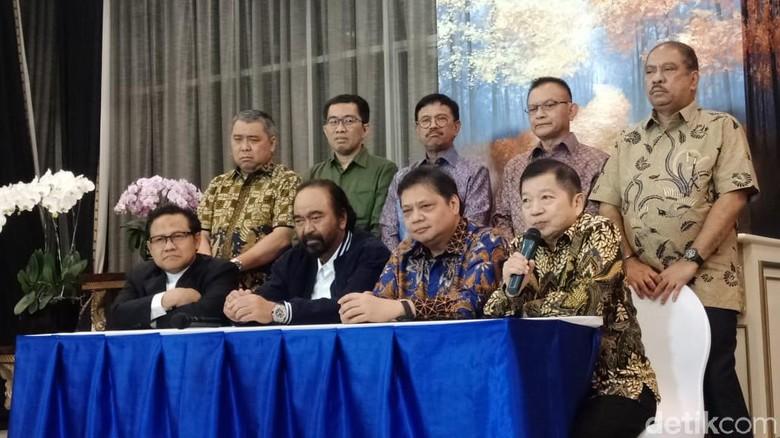 Surya Paloh-Airlangga-Cak Imin-Suharso Bahas Kursi Ketua MPR?