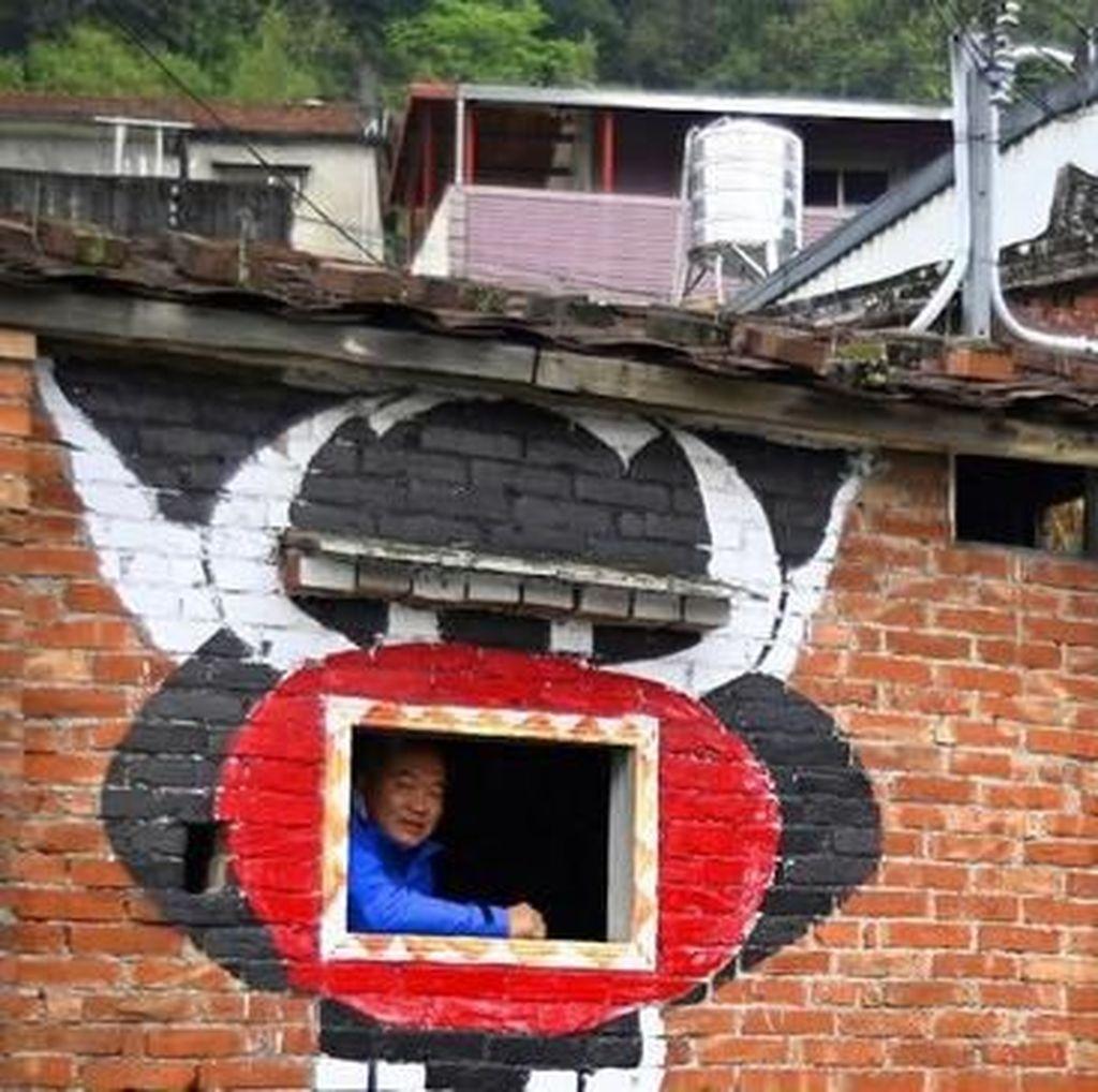 Mural Mengubah Hidup Desa yang Penuh Manula di Taiwan