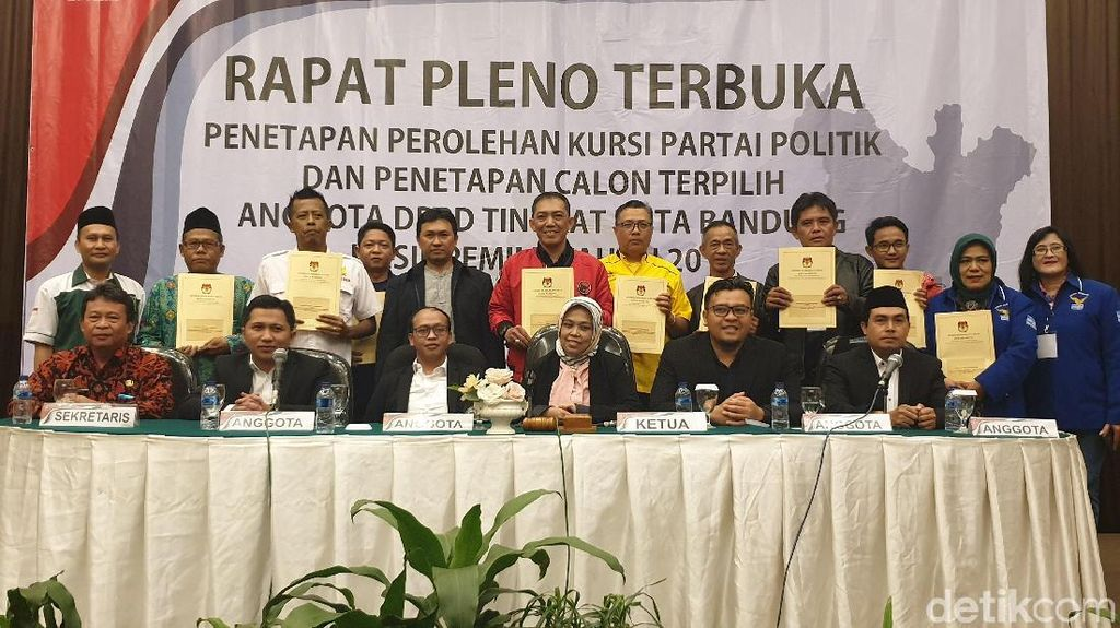 Ini 50 Nama Anggota DPRD Kota Bandung Terpilih Periode 2019-2024