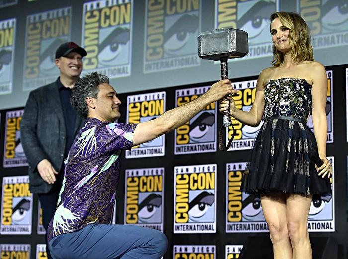 Natalie Portman akan memerankan Thor wanita. Foto: Alberto E. Rodriguez/Getty Images for Disney