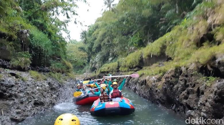 Rafting di Kali Elo, Kabupaten Magelang (Ahmad Masaul Khoiri/detikcom)