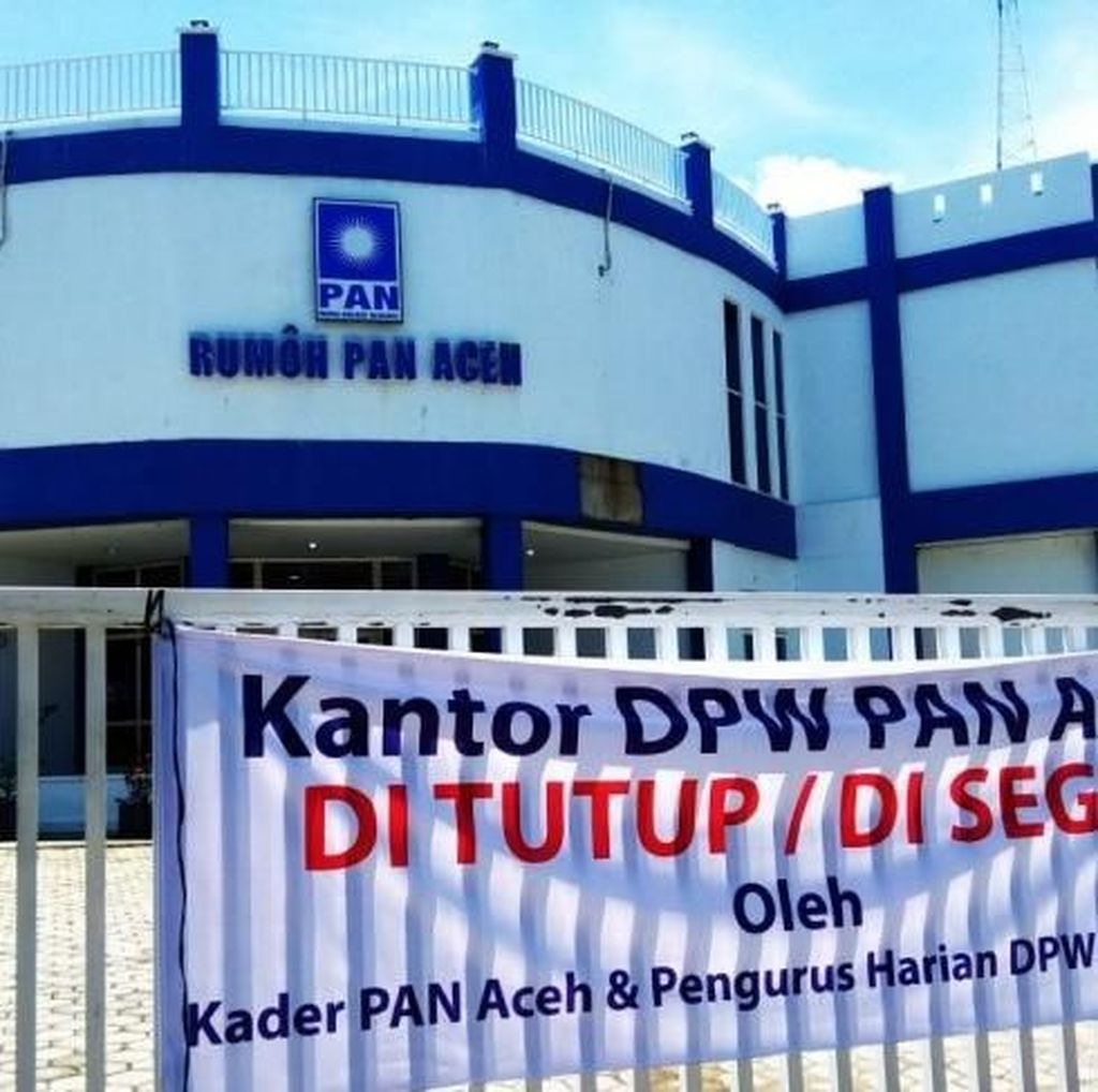 Protes DPP, Pengurus DPW PAN Banda Aceh Segel Kantor Sendiri
