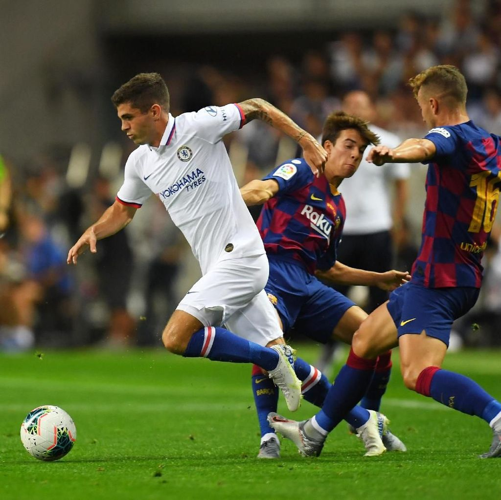 Barcelona vs Chelsea di Babak I: Tammy Abraham Bawa The Blues Unggul 1-0