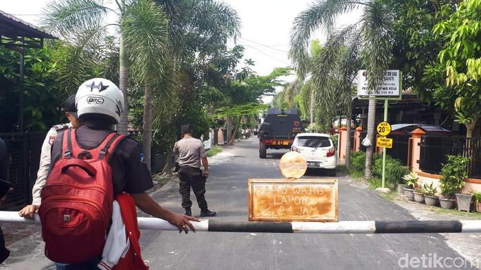 TKP penembakan polisi dengan bandar narkoba. (Chaidir/detikcom)