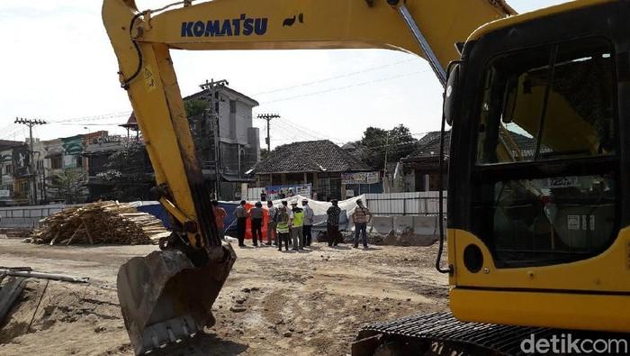 Proyek Underpass Kentungan (Foto: Ristu Hanafi/detikcom)