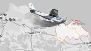 Cessna Jatuh di Indramayu
