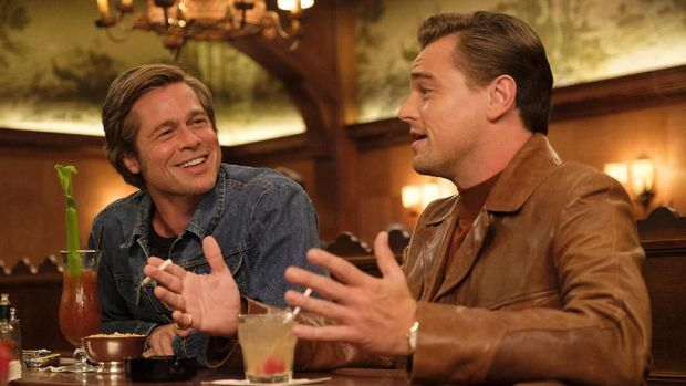 Leonardo DiCaprio dan Brad Pitt serta film Once Upon a Time in Hollywood masuk nominasi Oscar 2020.