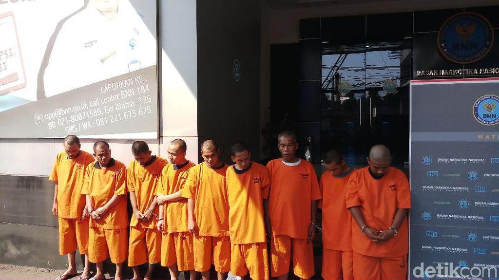 BNN Tangkap 9 Orang Sindikat Narkoba di Sumut-Kaltara, 120 Kg Sabu Disita