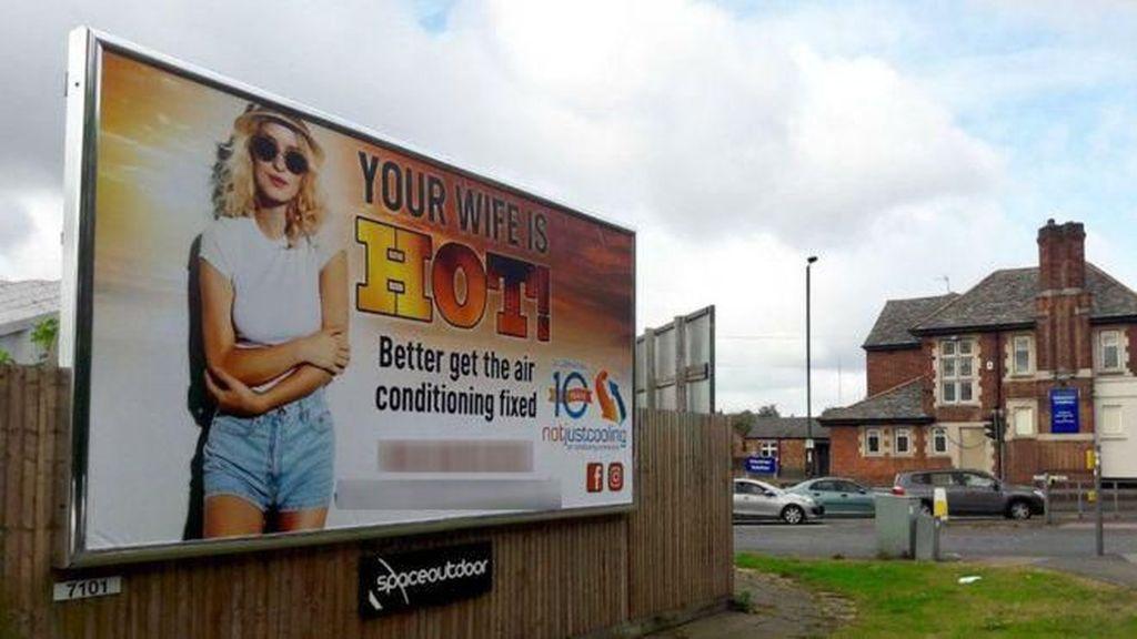 Iklan AC Dikecam karena Tampilkan Tulisan Seksis Your Wife Is Hot