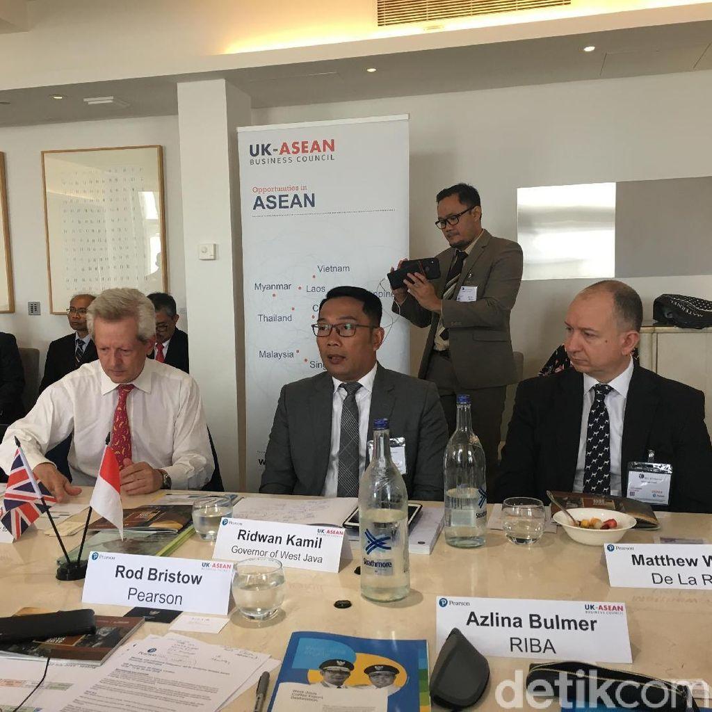 Ridwan Kamil Lawatan ke Inggris: Buru Investor dan Jualan Teh Jabar