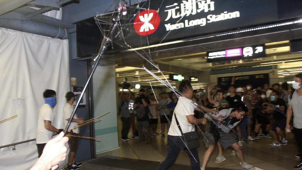 Serang Demonstran Hong Kong, 6 Pria Terkait Triad Ditangkap
