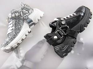 Miu Miu Rilis Sneakers Bling-bling Berhias Kristal, Dijual Rp 13 Jutaan