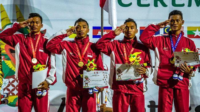 Indonesia juara umum ASEAN School Games 2019. (Foto: Aji Styawan/wsj/Antara Foto)