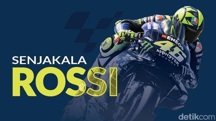 Valentino Rossi yang kini berumur 40 tahun semakin dekat dengan akhir kariernya di kelas MotoGP (Andhika Akbarayansyah/detikSport)