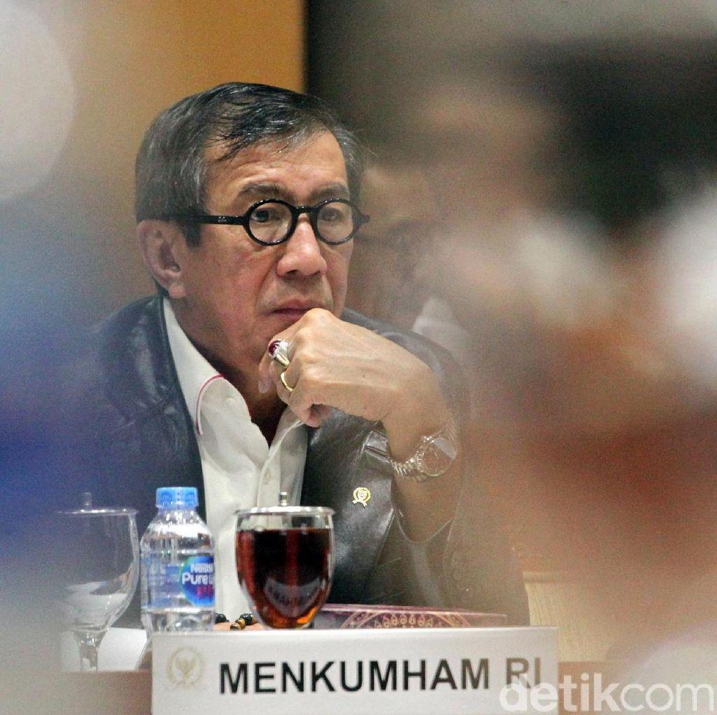 Menkum HAM Ngaku Sudah Bicarakan Draf Revisi UU KPK dengan Agus Rahardjo
