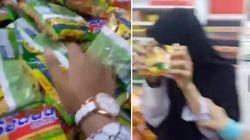 Duh, Aksi Remaja Remukkan Mie Instan di Supermarket Ini Jadi Heboh