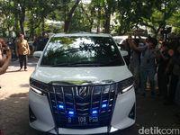 Mobil yang membawa Prabowo.