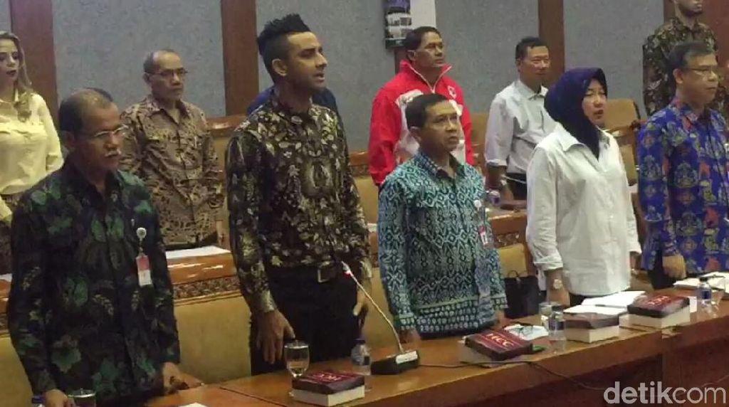 Ke Komisi X DPR, Otavio Dutra Dites Nyanyi Indonesia Raya