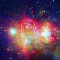 Sagittarius A* yang berada di pusat Galaksi Bima Sakti.