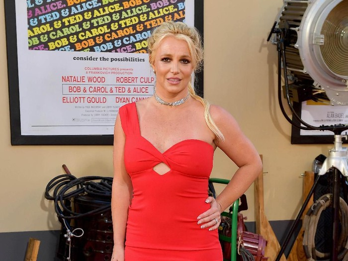 HOLLYWOOD, CALIFORNIA - JULY 22: Britney Spears attends Sony Pictures Once Upon A Time...In Hollywood Los Angeles Premiere on July 22, 2019 in Hollywood, California. (Photo by Matt Winkelmeyer/Getty Images)
