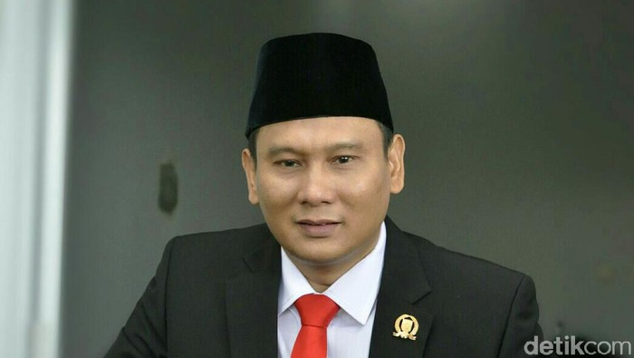 Anggota DPRD Fraksi Gerindra, Hamzah. (Matius Alfons/detikcom)