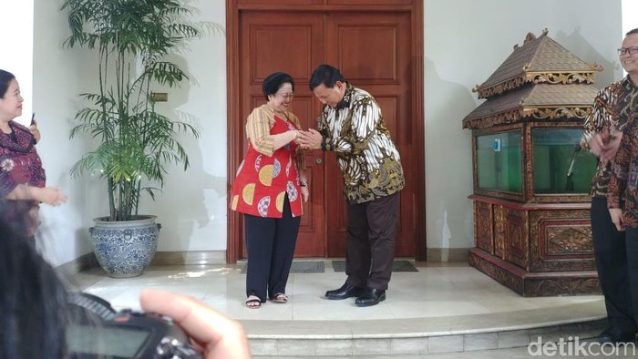 Megawati dan Prabowo Jumpa Pers Usai Pertemuan di Teuku Umar