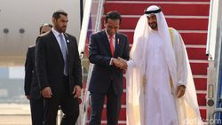 Tiba di Indonesia, Putra Mahkota Abu Dhabi Disambut Jokowi