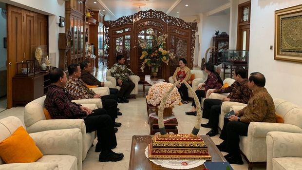 Suasana pertemuan Prabowo dan Megawati di Teuku Umar, Jakpus /