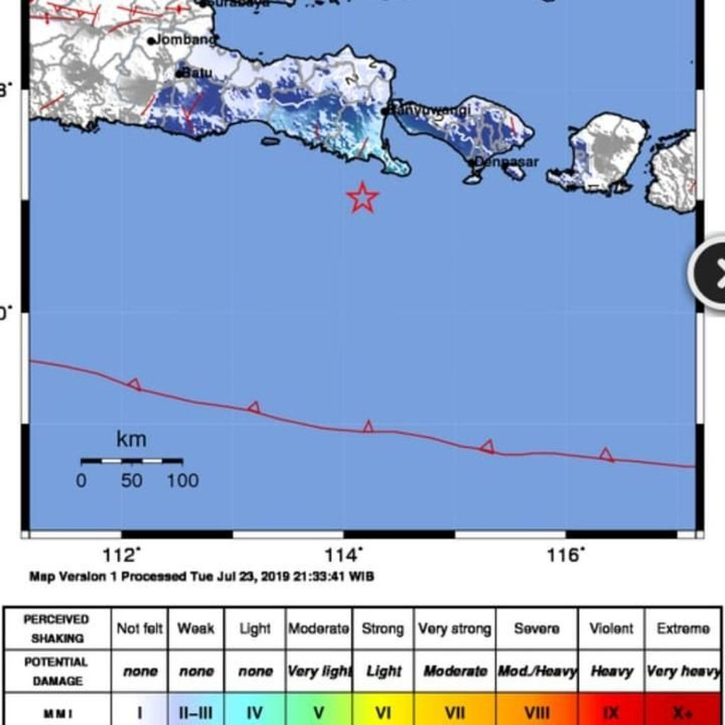 Gempa di Jembrana Bali Juga Dirasakan Warga Banyuwangi