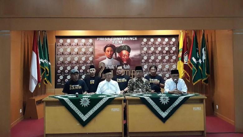Foto: Suasana jumpa pers pembuatan film berjudul Jejak Langkah 2 Ulama produksi Muhammadiyah dengan Ponpes Tebuireng. (Pradito Rida Pertana/detikcom)