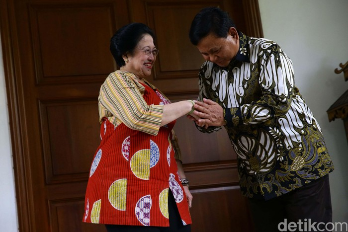 Megawati Soekarnoputri dan Prabowo Subianto (Foto: Grandyos Zafna-detikcom)
