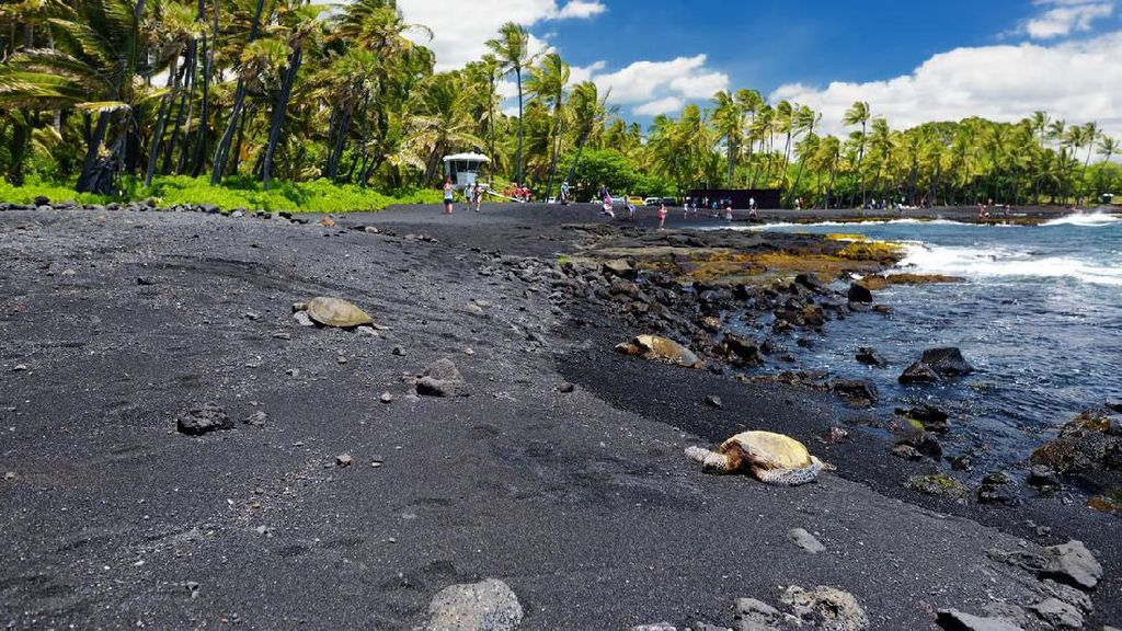 Foto: Pantai Pasir Hitam Legam, Cantik Juga