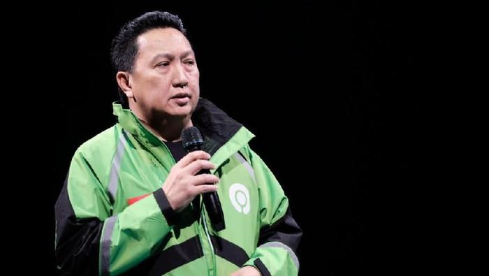 Bos Adaro, Garibaldi Thohir atau Boy Thohir menjadi salah satu komisaris Grup Gojek. Begini gayanya saat memakai jaket Gojek.
