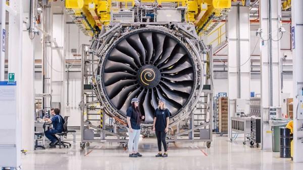 Markas besar Rolls-Royce Aerospace ada di Kota Derby, Inggris. Deru mesin meyelubungi sekitar 1.000 orang pekerja di sana (Rolls Royce/CNN)