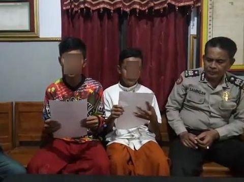 Kedua remaja meminta maaf atas tindakannya offroad melindas kuburan