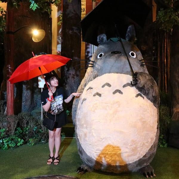 Jalan-jalan ke mal, kenapa tidak? Kimi pun berjumpa karakter Totoro di Mal Pacific Place, Jakarta (kimi.hime/Instagram)